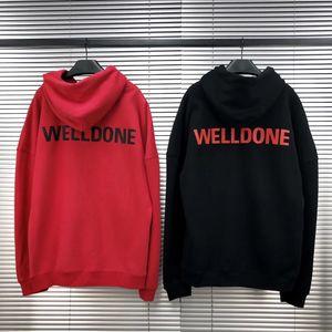 Sudaderas con capucha para mujer para hombre de diseño we11done impresión de la letra Welldone con capucha casual moda de la calle Marca con capucha para niños