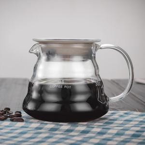 Coffee Pot garrafa de goteo 360 ml 600 ml 800 ml V60 Verter sobre el Rango de café de cristal Servidor Caldera Brewer Barista percolador Claro