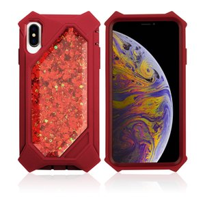 Quicksand Defender Glitter Akan Sıvı Yüzen Yumuşak Tampon Ağır Kızlar Kadınlar için Sevimli Durumda Iphone 6/6 S / 7/8, Iphone ...