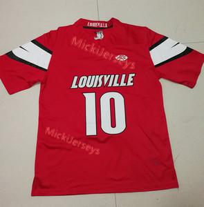 Erkek Kırmızı NCAA 10. Jaire Alexander Louisville Kardinaller KOLEJİ futbol Jersey Dikişli Yeşil Elite # 23 Jaire Alexander Formalar S-3XL