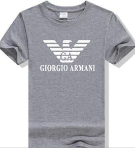 Estilo de verano del nuevo de los hombres salvajes camiseta de alta calidad 100% algodón camiseta impresa manga corta T camisetas Tops pantalla ARMA impresión a cuatro