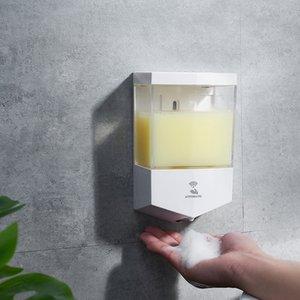 Montado en la pared del sensor dispensador de jabón de alta calidad caja de jabón automático inteligente de grandes manos libres portátil de contenedores de 650 ml MMA3452