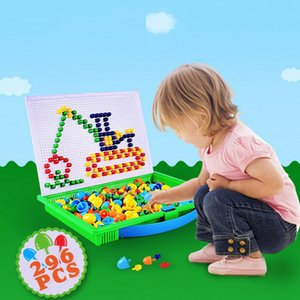 Lantiger Champignon Nail Intelligent Jeux Puzzle 3D bricolage champignon ongles en plastique Flashboard Jouets pour enfants jouets éducatifs Y200317