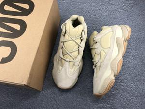 500 Pedra Sal corredor da onda 500 Blush Rato de deserto 500s Super Lua corrida Yellow Shoes Kanye West Homens Mulheres sapatilha Calçados Esportivos