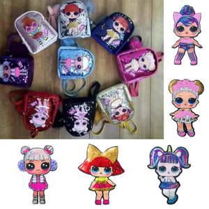 20191103 tissu de poupée Cartoon collé avec l'impression de sac Sequin image patch broderie fille Sequin collé avec des accessoires de sac à rabat