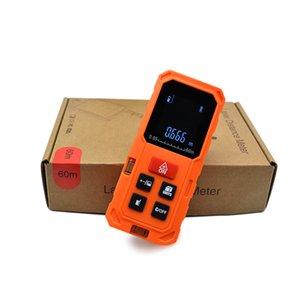 Clubiona şok geçirmez turuncu renk El 40M 80M 100M palmiye Lazer Mezro rangefinder mesafe ölçer T200603