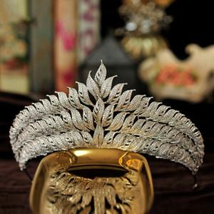 Queenco New Zircon Couronne Tiara Diadema Bijoux mariage Bandeau Femmes Décoration de mariée mariage Accessoires cheveux