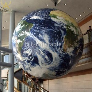 Free Shipping 2m Large Planet Balloon Inflatable Air Blown Earth Globe for Parade Event Ideas Advertising