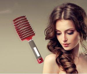 2018 Büyük Arapsaçı Saç Fırçası Kuaför Yuvarlak Tarak Islak Kıvırcık Arapsaçı Hairbrush Profesyonel Doğal Domuz Kıl Tüy Fırçalar