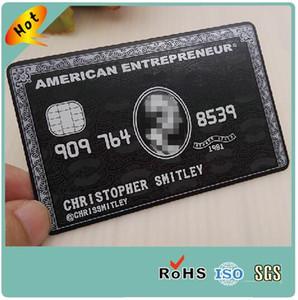 Metallo in bianco nero tagliato tagliato acciaio inossidabile di lusso impresso abitudine di progettazione di biglietto da visita