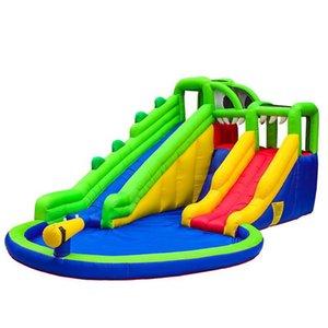 Far scorrere coccodrillo palude d'acqua per i bambini Felice Hop design gonfiabile Water Slide Park Kids Pool di rimbalzo