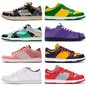 Top fashion sb dunk low women mens running shoes Chunky Dunky Brazil Purple Lobster Strangelove skate trainers designer sneakers nik 36-45