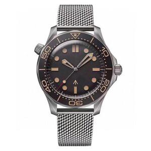 New Mens Watch Diver 300M 007 Edição Mestre Planeta 600m Co Axial Automático Mecânica Movimento Homens relógios em aço Correia Esportes Relógios de pulso