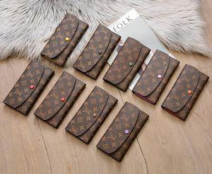 9 цветов Париж модных аксессуары мужчину женщина Марка Малый кожаный мешок Zip карман держатель Brown цветок сцепление карта Кошелек