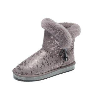 botas de neve femininas tubo curto bonito preguiçoso inverno pedal além de veludo botas de algodão grosso no tubo Martin botas vermelhas rede com o parágrafo