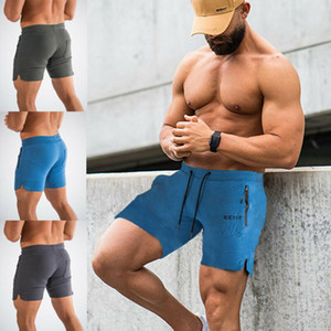 Men's Gym Shorts Training Running Sport Workout Casual Jogging Pants Trousers Male Skinny Bodycon Solid Casual Shorts Men