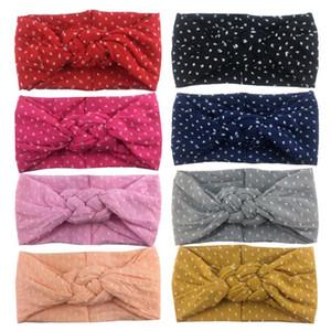 Bebek Kız saç bantlarında Çapraz Çin Yumuşak Kafa moda Esneklik Dot Bohemya Bow Kız Bebek Saç Aksesuarları Headband knot