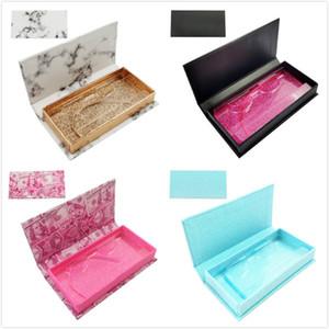 Rectangle false eyelash packing box fine mounted eyelash gift box 3D mink eyelashes packaging boxes DHL Free Shipping