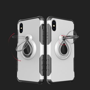 New 2 in 1 magnetic Armor Case For new iphone 6 7 8 plus x xr xs max iphone 11 pro max for samsung shockproof Kickstand car ring case