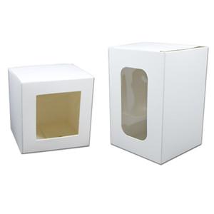 Articoli da regalo 20PCS Kraft bianco a mano Libro sapone fai da te di imballaggio box per i monili accessori di cartone di compleanno dei regali del partito scatole di immagazzinaggio con finestra