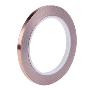 La bande EMI adhésive de blindage EMI de bande conductrice latérale de cuivre conducteur de 6mm 20m résistent à la bande pour la barrière de composants électroniques