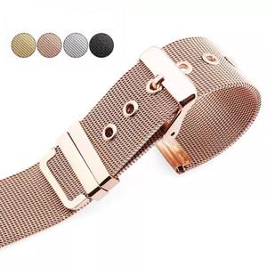 Milanese Loop correas de reloj banda de reloj manzana 1 2 3 4 5 banda Para iWatch 38 40 42 44 mm conector reloj del metal del acero inoxidable de la correa