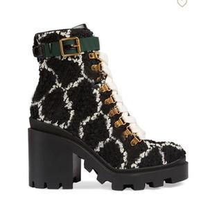 2019 outono inverno mulheres Martin botas Designer Luxo Shoes Carta Suede alta salto alto botas de metal Moda Feminina botas curtas tamanho grande 35-42