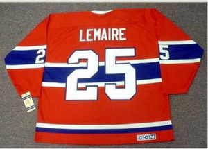Custom Men Youth women Vintage #25 JACQUES LEMAIRE Montreal Canadiens 1971 .1978 CCM Hockey Jersey Size S-5XL or custom any name or number