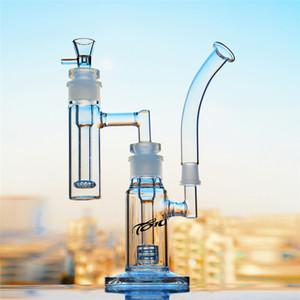 Große Bong mit percolator Birdcage Inline Perc Recycler Bohrinsel Glas Bongs Glas Wasser-Rohren mit 18mm weiblichen Joint