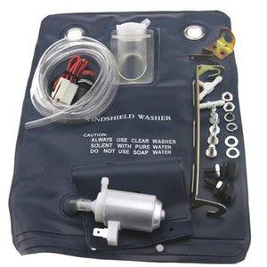 القدرة 12V 1 لتر ماء نافذة سيارة تنظيف الزجاج الأمامي غسالة السيارات غسالة مضخة كيت حقيبة 151286776374