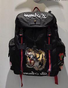 Marke männer frauen nylon rucksack aus echtem rindsleder mode tiger ace bestickt designer rucksack casual street sport schultasche