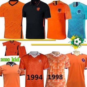 20 21 jerseys PAÍSES BAIXOS DE JONG Holanda van Dijk VIRGIL Retro 1988 Holanda Soccer Jersey Van Basten futebol camisas uniformes