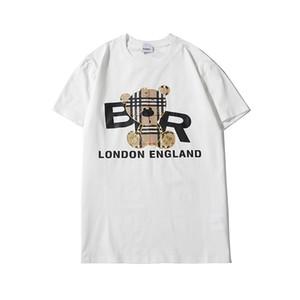Primavera Mens Brandshirts designershirts lusso camice Orso Mens Donne T maniche estate T del bicchierino di modo con cappuccio Felpe EB1 B105552L