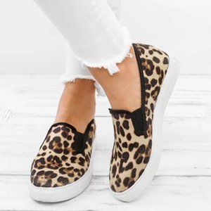 Appartements 2019 Nouveau Mode Leopard femmes Souliers simple d'été Chaussures plates Femmes Mocassins Chaussures Flats Roman Slip On Mocassins