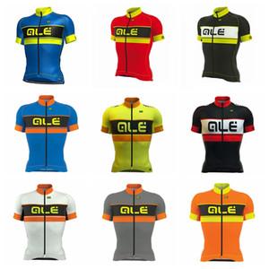 Hot New ALE team Cycling Maglie maniche corte Estate Camicie Abbigliamento Bike Wear Confortevole traspirante Quick dry spedizione gratuita H71503