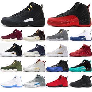 Universidade Nova azuis 12 12s Tênis de basquete para homens Winterized BORDEAUX o mestre GRIPE DO JOGO homens Sports Sneakers tamanho 40-47