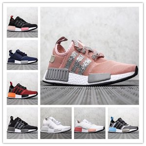 Patlamış mısır serisi NMD R1 Primeknit PK Mükemmel Kalite koşu ayakkabı Koşucu Primeknit R2 erkekler ve kadınlar yastıklama nefes rahat ayakkabılar