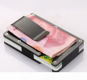 Money Clip Business Stainless Steel Business Card Holder Aluminum Credit Card Box