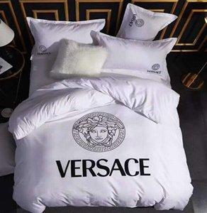 set Regina Branded 4pcs Home Imposta Lettera Foglio Copripiumino 200 * 230 CM federa di moda della famiglia Home Textile