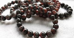 "10mm 11mm 12mm Red Genuine Natural Auralite 23 Cacoxenite Gemstone Round Beads Powerful Healing Gemstone Oldest Crystal 8"" Strand bracelet"