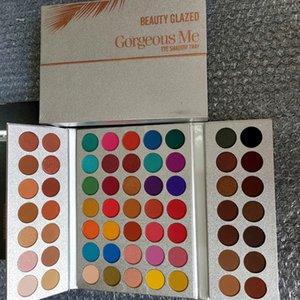 Beauty Glazed eye shadow palettes Gorgeous Me 63 Colors eye shadow palettes B37# NUDE Shimmer Matte eyeshadows High-quality Eyes Makeup