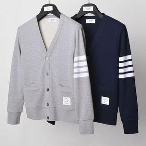 2020 Fashion TB THOM Brand Spring hooded Sweatershirts Cotton Jacket Men Women Couple Clothin Pocket Casual Sportswear Coat