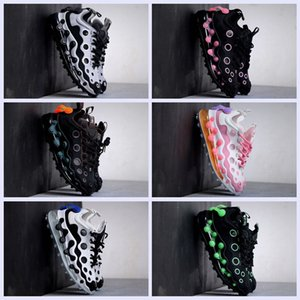2020 Reagir 720 Designer Sneakers Triplo Branco Preto Runner-de-rosa sapatos Og MensTrainers Polca-ponto oco superior de borracha Almofada Shoes