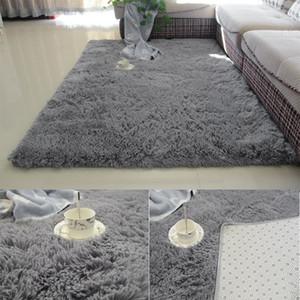 Super suave seda de lana interior de la manta moderno pelusa sedosa manta de área de Alfombras dormitorio estera del piso del cuarto de niños niños de la alfombra