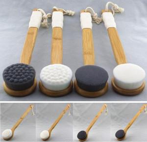 Griff Lange Badebürste Dusche Körper Zurück Reinigung Scrubber mit Bambusgriff Superfine Faser-Peeling Pinsel Haut SPA Bath Supplies