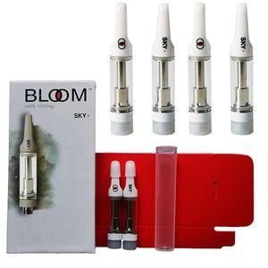 BLOOM Vape 카트리지는 두꺼운 기름 카트 (510) 스레드 분무기 포장 Vape 펜 0.8 ㎖ 세라믹 코일 Vape 카트리지를 비 웁니다