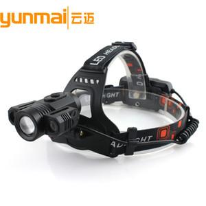 Novo Padrão 3LED Luz faróis podem Rotating suporte da lâmpada carga USB Faróis T6 Focando Chute de longe a lâmpada de faróis Miner