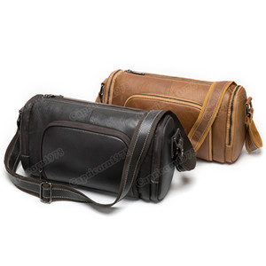 Mens Designer Luggage Duffle Bag Womens Fashion Genuine Leather Leisure Diagonal Cross Small Teavel Bag Retro Cylindrical Bag Capricorn1978