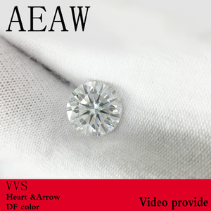 AEAW Round Brilliant Cut 2CT Carat F Couleur Moissanite en vrac pierre VVS1 excellente coupe de qualité des tests en laboratoire diamant