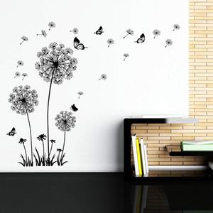 Dandelion Wall Decal - Adesivos de parede Dandelion Art Decor - Vinil Peel Grande e Stick Removable Mural por